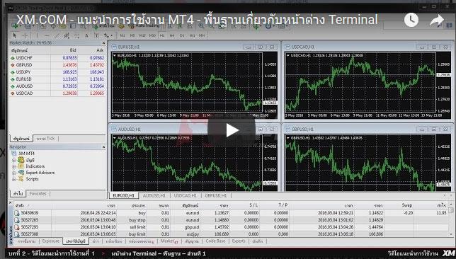 แนะนำการใช้งาน MT4 - พื้นฐานเกี่ยวกับหน้าต่าง Terminal